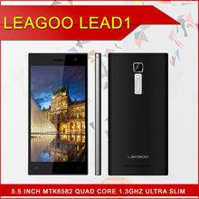 "original 5.5"" LEAGOO lead1 MTK6582 Quad core 1.3Ghz dual camera 1gb ram +8gb rom android 4.4.2 cell phone"