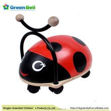 hot sell wooden framework lovely baby walker( ladybug)