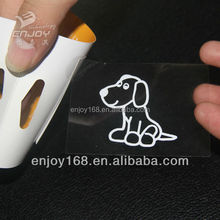 Clear Plastic Cutting Logo Vehicle Window Transfer Vinyl Decal