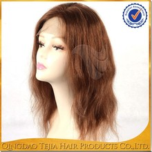 Natural Hair Silky Texture Full Lace Mono Top Wigs