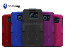 Thick defender flip case for Samsung galaxy E6 edge G9250 holster mobile holder / for Galaxy S6 edge shockproof skidproof case