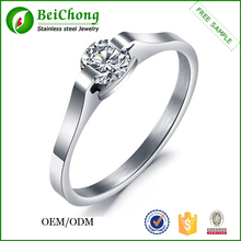 New products 2015 men's stainless steel ring with zircon
