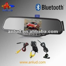 SALE!!! ALD100B car bluetooth rearview mirror with fm transmitter