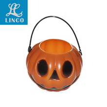 Halloween Party Pumpkin Shaped Portable Bucket