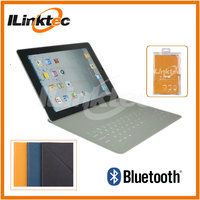 9.7 tablet pc leather case bluetooth keyboard, ultra-thin PU cover for ipad and ipad 2,3,4