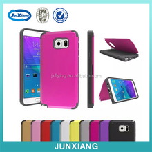 For Note 5 Armor Case With Credit Card Slot Holder, Armor PC Hybrid Hard Kickstand Back Case For Samsung Note 5