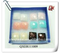 Fashion oblong shape plastic earrings(QXER111009)