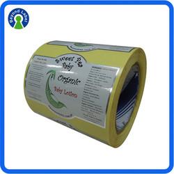 Self Adhesive Named Cosmetic Bottle Labels, Waterproof Printed Cosmetic Bottle Stickers