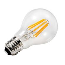 Crystal clear filament led bulb indoor lighting