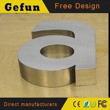 Brushed 3d stainless steel letter signs,Metal Letters