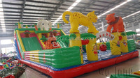 Popular And Crazy Commercial Giant Adult Inflatable Slide For Sale