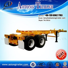 3 axle 40ton skeletal or skeleton 2*20ft and 40ft used container truck for sale / 30-50ton container trailer chassis for sale