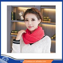 wholesale 2015 Yiwu Hot Selling Lady Knit Scarf,fashion Winter Knit Infinity Scarf,Women lovely Knitting Scarf