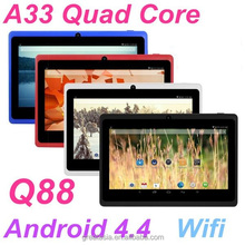 7 inch Q88 Tablet PC RAM 512 M ROM 8GB Android 4.4 Allwinner A33 Quad Core 1.5GHz