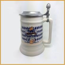 Factory handmade cheap beer steins beer mugs with lid