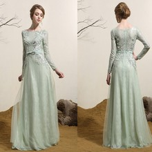 wholesale Custom made Siduo 800172 A-libe long sleeve celebrity / party Dresses