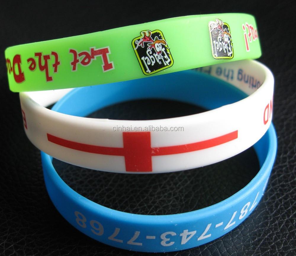 colorful cheap custom silicone bracelet fashion silicon
