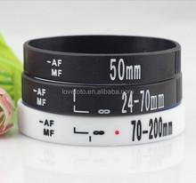 Lens Silicone Wristband Rubber Photographers Shot Bracele SLR DSLR