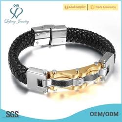 Fashion jewelry bracelet,leather wrap bracelet, bracelet manufacturer