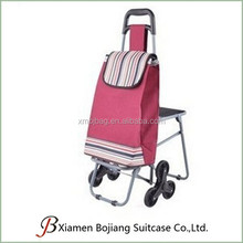 Carry-On Type waterproof foldable light weight supermarket trolley bag with wheel