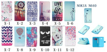 Wallet Design PU Leather Flip Case Cover for Nokia Lumia 640
