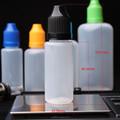 Nuevo diseño larga punta fina a prueba de niños tapa de sello botellas cuentagotas, ISO8317