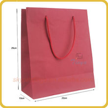 hot sale red paper gift bags in recycled paper manufacturer
