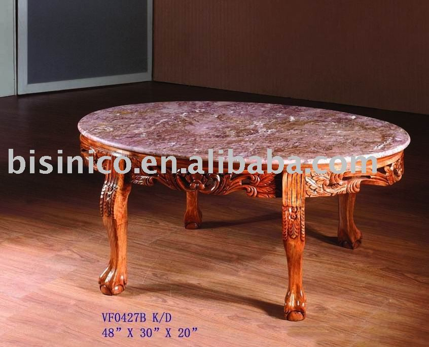 Oval coffee table with marble topantique coffee table for Oval coffee table with marble top