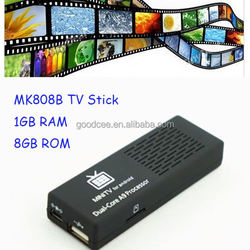 Cheap price MK808B RK3066 1GB RAM 8GB ROM android tv stick on set tv top
