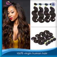 Made in china wholesale human hair in natural color,24inch malaysian body wave hair