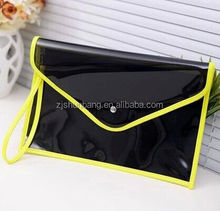 pvc bag/ dome/square shape bag/ pe file bag with zipper