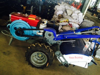 1115 engine 22hp Farm Walking Tractor with rotary tiller with seat