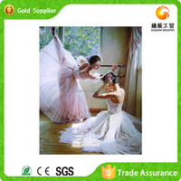 Full stock new design custom gemstone painting dancing girl painting