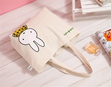 2015 print leisure canvas shoulder with colorful cartoon low canvas women shoulder bag canvas bag wholesale FW16333
