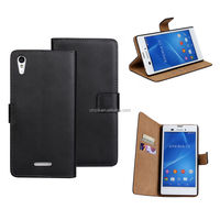 Genuine Leather Stand Wallet Case For Sony Xperia T3 D5103 D5106 Flip Cover Skin