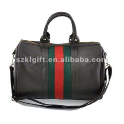 2012 Fashion brown PU leather traveling bag