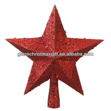 Star plastic christmas tree toppers ornament decoration