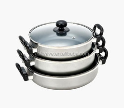 Aluminium Ceramic Double ears non-stick soup pot set