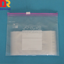 LDPE good price hanging write block slider bag with storage