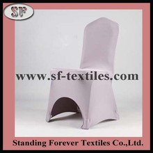Grey lycra spandex stretch chair cover for hotel dining room