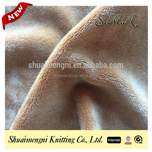 China direct textiles factory brushed plush velvet thick polyester stretch knit fabric