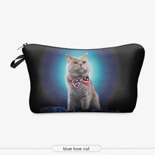 zohra china supplier cheap promotional cartoon cat 3d digital print fashion camping travel hanging cosmetic bag