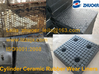 Ceramic Rubber Panel Ceramic Rubber Plate Ceramic Rubber Liner With High Alumina Cylinders
