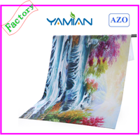 Sublimation promotional beach towel of microfiber
