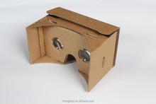 Popular diy 3D google VR Video Virtual Reality Google Cardboard Kits,Headset 3D glasse 3D VR