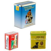 Dog food tin box/Pet Food Metal Tin Container/cat food tin box dog food tins