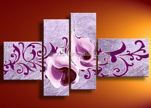 2015 popular modern flower oil painting for wall decoration