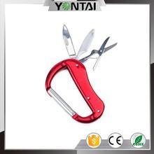 knife shaped big metal climbing carabiner
