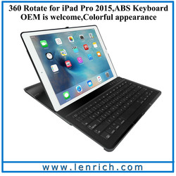 LBK213 Bluetooth Keyboard case for ipad pro, for ipad pro 12.9 bluetooth kayboard 360 swivel case cover