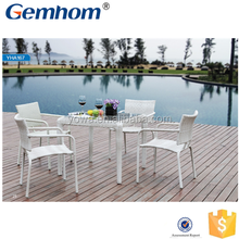 outdoor synthetic rattan furniture dinning set